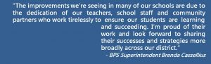 Quote from Superintendent Cassellius